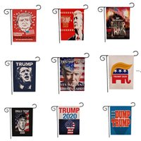 Trump 2024 Gartenflaggenwäsche 45 * 30 cm Kampagnengärten Flaggen Kostenlose Lieferung HA7628