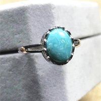 Cluster Rings Natural Turquoise Ring For Woman Lady Men Crystal Love Gift Silver 11.5x9.5mm Beads Stone Fashion Jewelry Adjustable