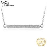 JewelryPalace Cubic Zirconia Bar воротник Ожерелье 925 Стерлинговое серебро Ожерелье 18 дюймов Кабельная цепь Ювелирные изделия изготовления женщин