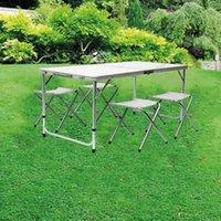 Tragbare Leichtgewicht Aluminiumlegierung Outdoor Einstellbar Falten Wasserdichte Tischstuhl Für Camping Beach Hinterteile BBQ Party Camp Möbel