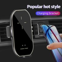 Car Phone Charger Holder Automatic Clamping 15W Wireless Magnetizing Mobile Mount Auto Induction Opening and Closing smartphone Mounts