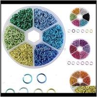 Conexão conjunto de combinação artesanal diy acessórios de jóias 6mm cor de alumínio aberto nzdb2 divisão 5qyhl