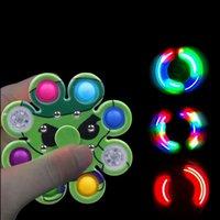 Spingere la bolla a mano spinner irregolare giocattoli spremere Sensory Sensory semplice Dimple Spinning Top Cartoon Popper Popper Bubbles Board gioco Decompressione Giocattolo
