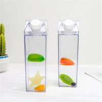 1 unids botellas de agua caja de leche diversión transparente moda bebida hervidor perfecto regalo bebida caja de cartón para jugo café té 2082 v2