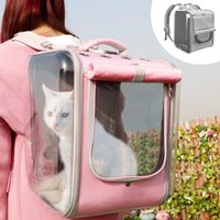 Cat Carriers,Crates & Houses Breathable Backpack Large Capacity Puppy Dog Transparent Carrying Bag Outdoor Travel Portable Pet Carrier Cats