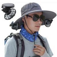 Clip on cap Mini Solar Fan Summer Viaggio Sun Energy Energy Power Raffredding fan