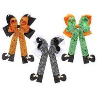 Halloween Kids Hair Clip Grosgrain Ribbon Bows Hairclip Baby Girl Hairpin Barrettes Fashion Girls Hair Accessories