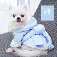 PET Tulum Sevimli Hoodie Giysi Mont Rahat Rahat Yumuşak Bornoz Yavru Köpek Pijama Için Katı Kış Sıcak Moda 386 R2
