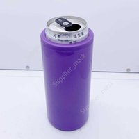 12OZ can cooler DIY sublimation tumbler double wall stainless steel vacuum beer mug 5 color DAU284