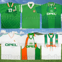 1988 Retro Irlanda Classic Soccer Jersey 1990 1992 1995 Keane Townsend Houghton Retorno Camisa de futebol Aldridge Sheridan Staunton Antigo Maillot
