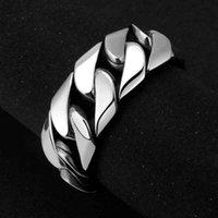 Large 26mm Link Chain Bracelet Stainls Steel Men Cuff Bracelet Casting Metal Chain Bracelet Mirror Polished