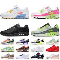 Nike Air Max 90 Nike 90 Air 90 Stock x 2021 Top qualité grande taille 12 femmes hommes chaussures de course Triple blanc noir UNDEFEATED Supernova formateurs baskets