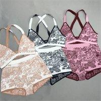 섹시한 크로스 스트랩 비키니 편지 패턴 수영복 디자이너 꽃 프린트 수영복 여성 비치 스포츠 수영복