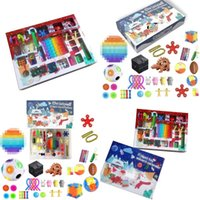 Decompression Anxiety Party Favor Blind Boxes Adult Child Toys Xmas Count Down Gifts Fidget Toy Christmas Advent Calendar 1sd H1