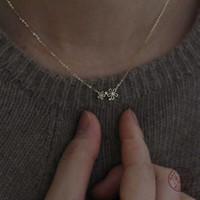 925 plata esterlina bohemia simple flor pequeña colgante clavícula collar de cadena mujer verano playa casual joyería accesorios