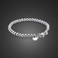 Prawdziwe proste 100% 925 szterling koraliki dla kobiety solidna srebrna dziewczyna bransoletka biżuteria rodzic-dziecko