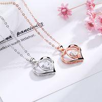 قلادة القلب المرأة S925 الشظية للأبد loveheart القلائد أنا أحبك لصديقة الأم زوجة دون هدية مجوهرات