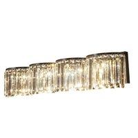 Настенная лампа Большая спальня Deco Crystal Light Chrome Long Led Foйе освещение освещения EL Project Furnite Famamara Pared