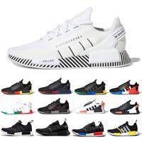 Dazzle camo nmd r1 v2 رجل الاحذية الأساسية أسود أبيض مكسيكو سيتي oreo og الكلاسيكية أكوا نغمات الرجال النساء اليابان الرياضية أحذية رياضية
