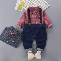 Shirts Boy Clothes Suit Spring And Autumn Boys' Strap Long Sleeve Shirt Baby Fashion Pants Boys