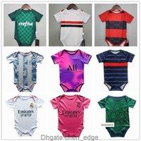 Toptan Bebek Jersey 2021 Yüksek Kaliteli Toddler Futbol Gömlek 6-18 Ay Futbol Sürüneme Takım Elbise