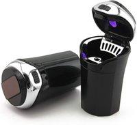 LED 자동차 재떨이 액세서리 휴대용 다기능 전자 가벼운 자동차 쓰레기 보관 담배 USB 자동차 컵 홀더