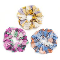 Girls Hair Accessories Tie Hairbands Bands Headbands Teenage Kids Scrunchies Childrens Accessory Autumn Winter Plaid Ring Jewelry Rope B8791