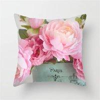 decorative pillow covers for christmas Halloween rose printed Short plush pillows 45*45CM bed soft bag pillowcase Cushion DWB10549