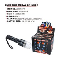 Electric Automatic Metal Herb Grinder Smoke Flashlight Hand Crank Tobacco Miller Spice Crusher Wholesale