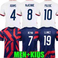 2021 الولايات المتحدة الأمريكية لكرة القدم الفانيلة بعيدا 2022 pulisic dest mckennie reyna adams weah musah letget 21 22 الرجال الاطفال قمصان كرة القدم concacaf الذهب فنجان المشجعين