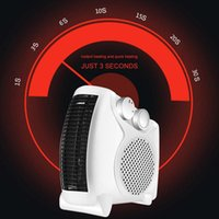 Electric Hair Brushes Portable Space Heater Indoor Personal With Overheat & Tip-Over Protection Auto Desktop Room Fan
