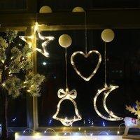 Wholesale 11 Styles Christmas Decorations LED Lights Ornament Plastic Santa Claus Tree Snowman Festive Decorative Light String