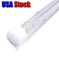 25pcs LED LED Tube Lumière de tube, 8FT 100W, Lampe à ampoule à double côté V, fonctionne sans ballast T8, plug and play, couvercle de la lentille transparente, 6000k
