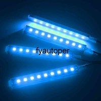 9 LED 4 In 1 Car Interior Atmosphere Lights Dash Floor Foot Strip Lights Auto Decorative Lamp Cigarette Lighter Adapter