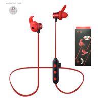 Auriculares Blutooth magnéticos 5.0 Auriculares inalámbricos TF TAPR Slot Sports estéreo auriculares para iPhone 11 12 Pro Samsung S21 S20