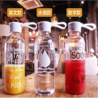 Hip Flasks Navpeak 10pcs lots My Bottle Plastic Water Transparent Creative Portable Cover Can Be Customized LOGO