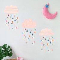 Naklejki ścienne PCV 1 Zestaw Kreatywny Kolorowe Kolorowe Cloud Cloud Naklejki Lekki deszcz Naklejka Wykwintna do sypialni