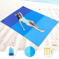 Outdoor Pads Beach Blanket Portable Pocket Picnic Mat Waterproof And Sand-proof Belt Storage Bag Camping Equipment Accessories