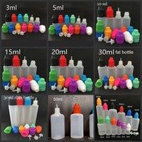 E Liquid Bottles 3ml 5ml 10ml 15ml 20ml 30ml Empty Dropper Ldpe Plastic Childproof Caps Long Thin Needle Tips For Juice Vape Oil
