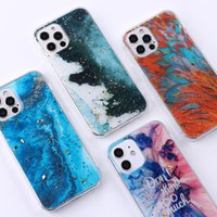 Gradient Marble Phone Cases Oil Color Ink Painting Cover Stylish Watercolor Case for iPhone 7 8 X 11 12 PRO MAX