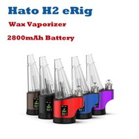 Hato H2 Enail Wax Vaporizer kits Concentrate Shatter Budder Dabs Rig 400F-700 800F Continuous Tempreature Setting 7 Color Lighting 2800mAh Battery