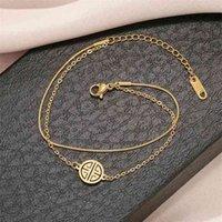 Los anillos de compromiso de los pendientes del diseñador, las pulseras y los collares de oro son los favoritos de las mujeres enlazan, cadena de doble capa LUDE DE LUCKY SMEZ SNAKE HERO 18K RED RED INS LU