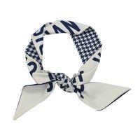 Designer Mode Stirnband Luxusmarken Schal Frauen Seidige Scraves Top Grade Silk Hair Bands 5.8 * 97cm