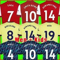 Camiseta de fútbol Arsen 21 22 PEPE SAKA Fans Versión de jugador Artilleros ØDEGAARD THOMAS WILLIAN NICOLAS TIERNEY SMITH ROWE 2021 Camiseta de fútbol chandal 2022 Hombre + Niños