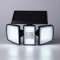 Outdoor Wall Lamps 70 LED Rotary Lamp Intelligent Sensor Waterproof Solar Charged Lighting For Porch Garden Yard
