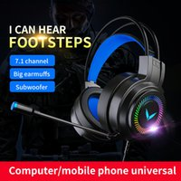 G58 Stereo computer Game earphones Noise Cancelling With Mic Head-mounted Headset LED Light for Switch PS4 Xbox One PC Gaming Headsets