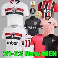 21 22 Sao Paulo Soccer Jersey di distanza Red 2021 2022 Dani Alves Pato Hernanes Luciano casa Camicia da calcio Bianco Allenamento Donne