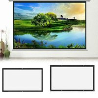 Projection Screens 16:9 Projector Screen Wall Mounted Portable Foldable Home Cinema Theater 3D HD Projections Canvas