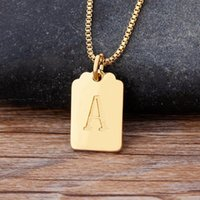 Chains Luxury Copper Zircon A-Z Alphabet Pendant Chain Necklace Punk Hip-Hop Style Fashion Woman Man Initial Name Jewelry Gift