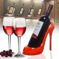 عالية الكعب حذاء النبيذ زجاجة حامل أنيق رف أدوات سلة الملحقات للمنزل حزب مطعم غرفة المعيشة الجدول ديكورات WLL568